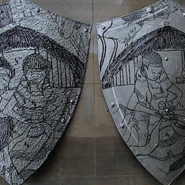 Kintu and Nambi Diptych by Gloria Ssali