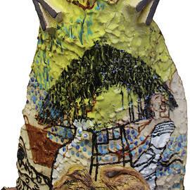 Kintu and Nambi Kintus Tasks Ceramic Shield by Gloria Ssali