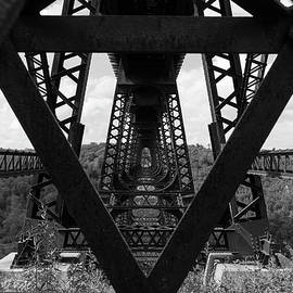 Kinzua Bridge Perspective by Michael Hills