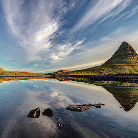 Kirkjufell Sky Reflection Iceland by Pierre Leclerc Photography