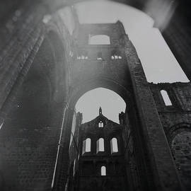 Kirkstall Abbey Monochrome by Arro FineArt