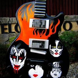 Kiss Guitar by Tru Waters