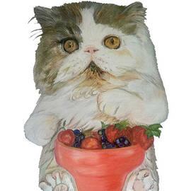 Kitten with Fruit Smoothie by Maria Sibireva