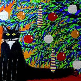 Kitty Cat Vs. Christmas Tree by Jeffrey Koss