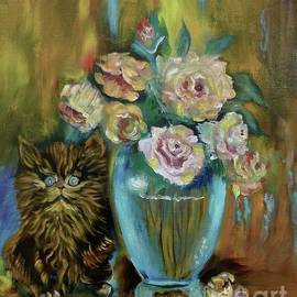 Kitty Still Life 11 by Jenny Lee