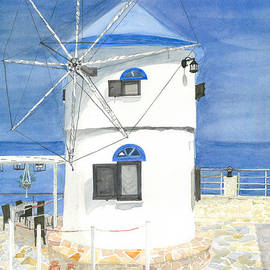 Korithi Windmill, Greece by Susie Newman