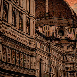 Sunset over Florence Italy by Rita Di Lalla