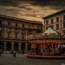 The carousel Florence Italy by Rita Di Lalla