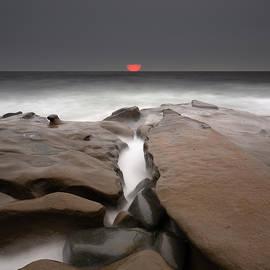 La Jolla Red Sun by William Dunigan