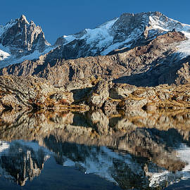 La Meije peak mirrored in Lake Lerie by Olivier Parent