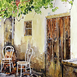 La Terraza Vieja. The Old Terrace  by Margaret Merry