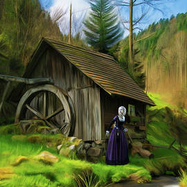 Lady and the Watermill by Omid Gohardani