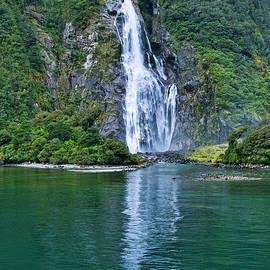 Lady Bowen Falls, New Zealand. by Steven Ralser