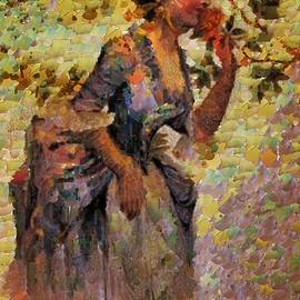 Lady Smells a Rose by Mario Carini