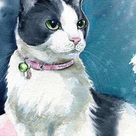 Lady Tuxedo Cat Painting by Dora Hathazi Mendes