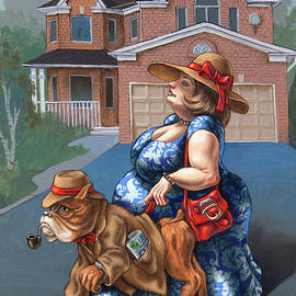 Lady With a Dog by Victor Molev