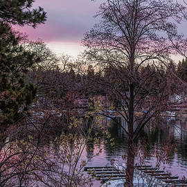 Lake Arrowhead Sunset by Alison Frank
