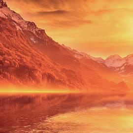 Lake Brienz at Dawn by Svetlana Sewell