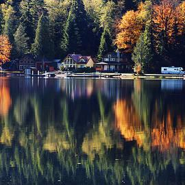 Lake Cavanaugh Shoreline by David Lunde