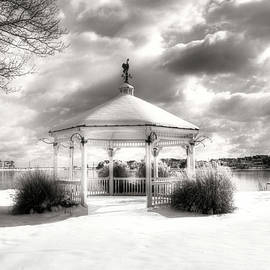 Lake Como New Jersey lake and gazebo by Geraldine Scull