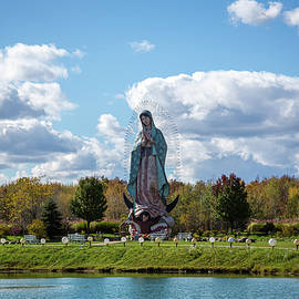 Lake Hope With Statue of Mary by Dale Kincaid