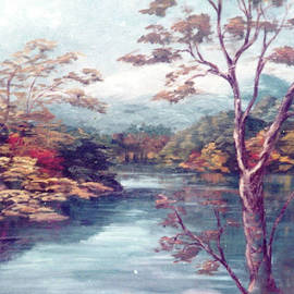 Smith Mountain Lake in Autumn  by Catherine Ludwig Donleycott