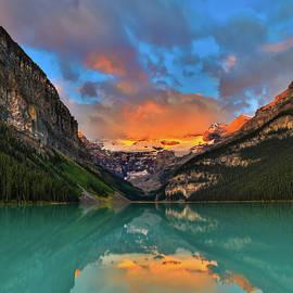Lake Louise Stunning Sunrise by Dan Sproul