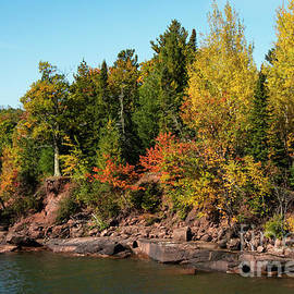 Lake Superior Shoreline in Big Bay State Park Six by Bob Phillips