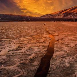 Lake Tahoe Ice Crack by Mitch Shindelbower