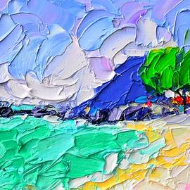 LAMAI BEACH KOH SAMUI ISLAND THAILAND beach textural impasto knife oil painting Ana Maria Edulescu by Ana Maria Edulescu
