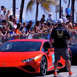 Lamborghini in Car Show  by Dianna Tatkow