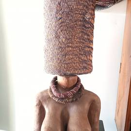 Lampshade for table,Ceramic art,Clay by Jafeth Moiane