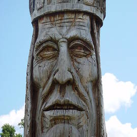 Landing Brave Totem by Rodger Painter