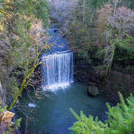 Large Falls from Above by Peggy McCormick