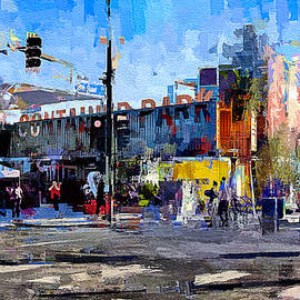 Las Vegas Downtown Container Park - painting by Tatiana Travelways