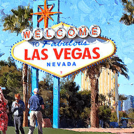 Las Vegas Welcome Sign by Tatiana Travelways