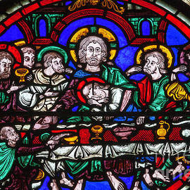 Last Supper Bourges Cathedral by Robert L Lease Images Lumiere De Liesse Ltd