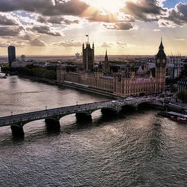 Late Afternoon On the Thames by Paul Coco