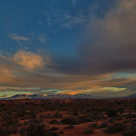 Late Day Light and Clouds, Arches National Park by Stephen Vecchiotti