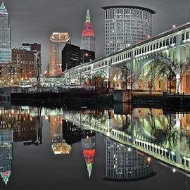 Late Night Selective Color Cleveland by Frozen in Time Fine Art Photography