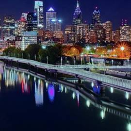 Late Nite Pano in Philly by Frozen in Time Fine Art Photography