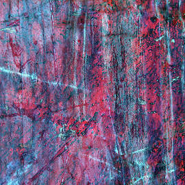 Lateral thinking - Red and blue marble abstract by Western Exposure