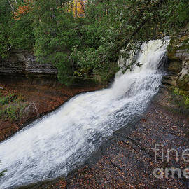 Laughing Whitefish Falls Autumn by Rachel Cohen