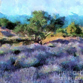 Lavender Field By The Sea by Dragica Micki Fortuna