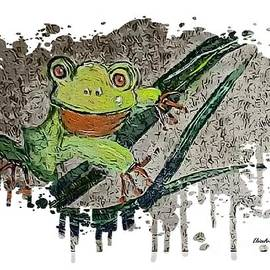 Leafing Lounging Leap Frog by Eloise Schneider Mote