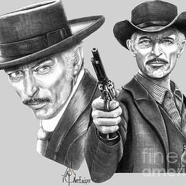 Lee Van Cleef drawings by Murphy Elliott