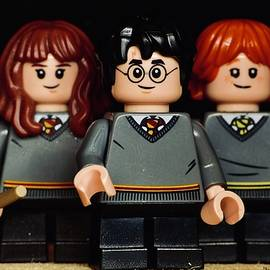Lego Harry Potter, Hermione Granger And Ron Weasley  by Neil R Finlay