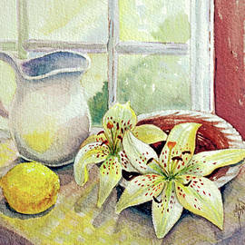 Lemon and Lilies by Marilyn Smith