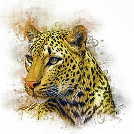 Leopard Art by Ian Mitchell