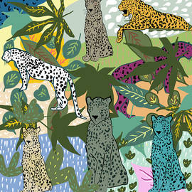Leopard In The Jungle by Marshal James